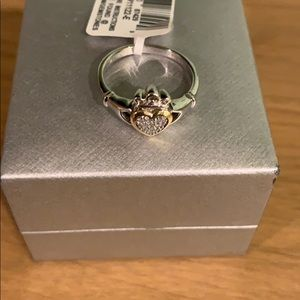 Sterling silver and 14k ring